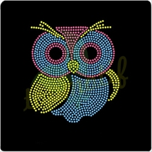 Crystal Appliques Hot Fix Animal Owl Diamante Designs Rhinestone Templates For Decorated Wallet