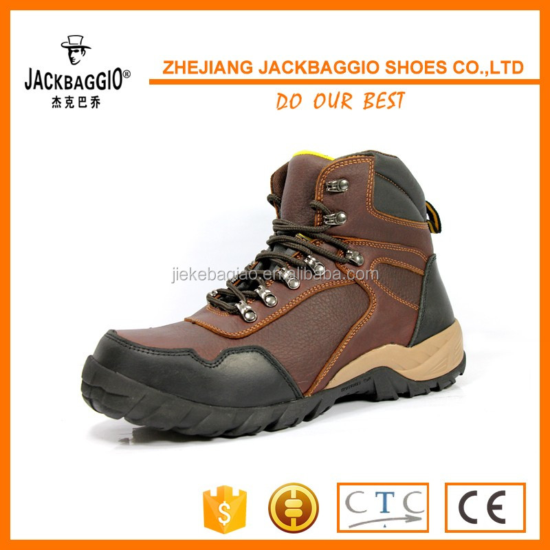 PU artificial leather PVC sole TPU reinforced toe to protect working safety shoes