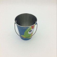 small round packing stationery tin bucket