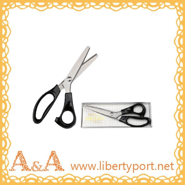 "Good quality, 9"" 10"" stainless steel zig zag scissor"
