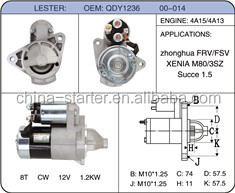 Mass market used for dodge starter and altrnator