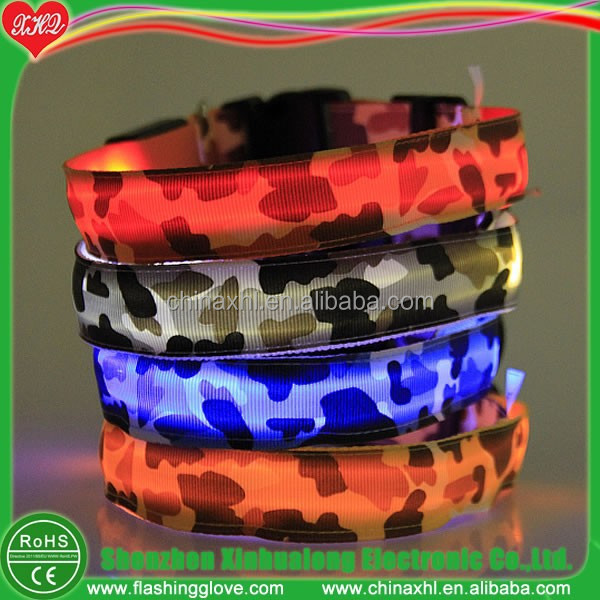 Novelty dog products LED dog collar dog safety harness