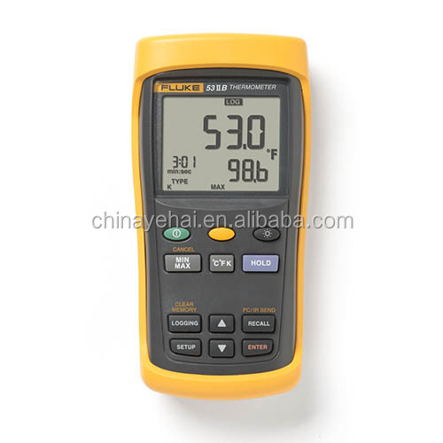 Thermometer digital Fluke 53-II B thermometer with infrared USB,Fluke 53-II B infrared thermometer with data logging