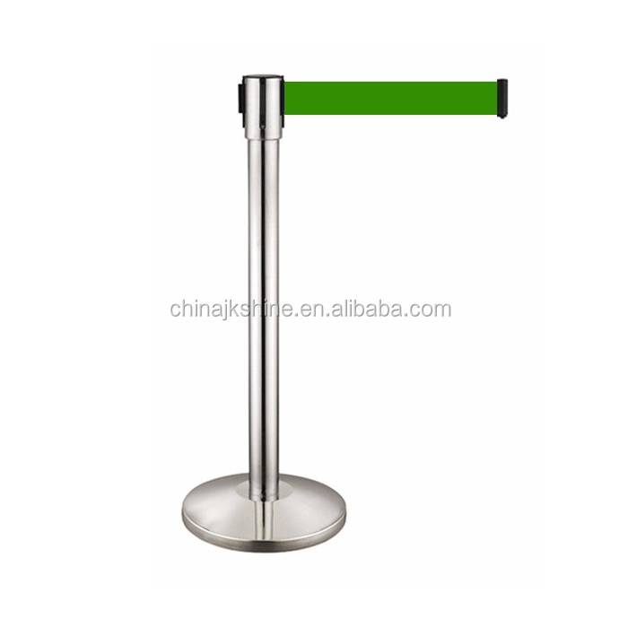 High Quality Stainless Steel Strap Barrier Retractable Ribbon Stanchions For Sale In Dubai