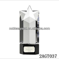 Noble Popular crystal five star trophy awards