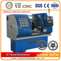 2016 Low Price Alloy wheel repair CNC Lathe turning machine