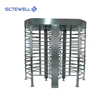Factory Price Dual Passage Revolving Door Security Automatic RFID Access Control Full Height Turnstile