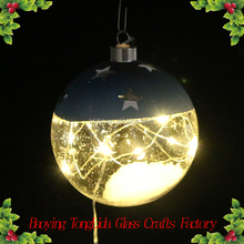 Christmas ornaments clear glass snow ball