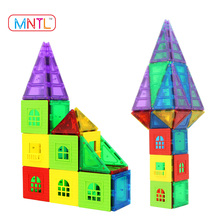 MNTL 60+6 Piece Building Toys Educational Magnetic Building Blocks Toys Set Preschool Strong Magnet 3D Puzzle Tiles