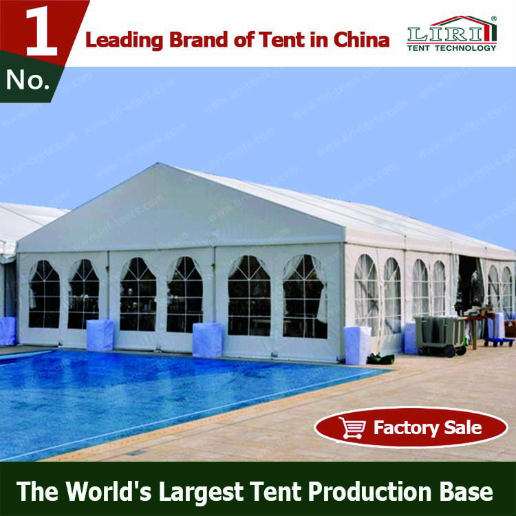Aluminum Large Capacity Clear Span Wedding Tent For 1000 people