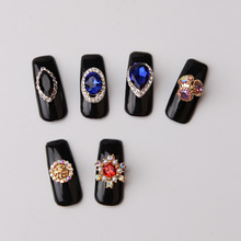 2017 Newest nail decoration for diy shining rhinestone design crystal bule stone nail art jewelry wholesale
