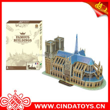 3D Notre Dame de Paris diy puzzle toys diy buildings paper model