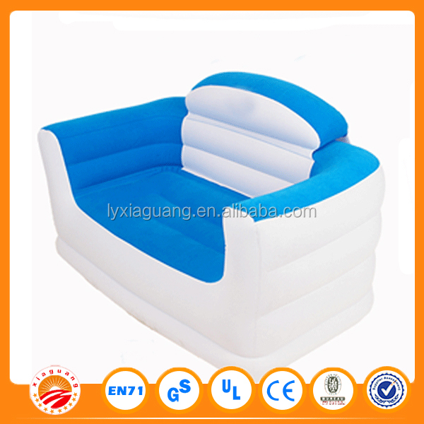 Chinese supplier inflatable PVC Flocked sofa kids chesterfield sofa