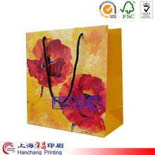 reusable folding rose shopping bag
