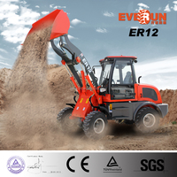 EVERUN ER12 Multi-function Agriculture Machinery Equipment Snow Blower/Grapple Bucket Mini Loader for Sale
