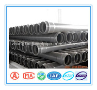 ASTM,BS,DIN,ISO,AS/NZS Standard pvc pipes for water