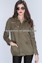 olive studded bird button up jean jacket wholesale,wholesale plain varsity jackets,bomber jacket wholesale