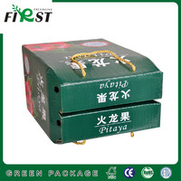 Nice fruit packaging box/Corrugated Paper Packaging Box/Corrugated Paper Fruit Packing Box with Rope Handle
