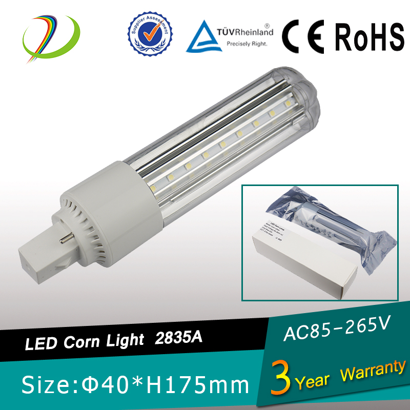 PL CFL replacement LED bulb UL DLC certified 12w LED corn bulb SMD2835 High lumen E26 e27 G24 GX24 G23 GX23 corns
