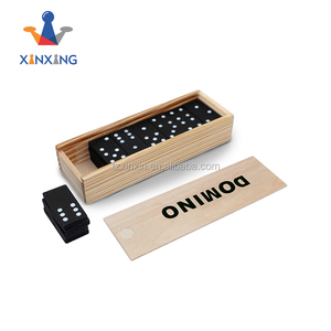 Deluxe 28 Pcs wooden Domino Set in wood case for traveling