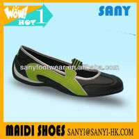 Most Popular Woman's Stylish Black PU Leisure/Folk Dance Shoes with Especially Durable and Soft TPR Outsole from China