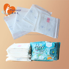 Biodegradable name brand ultra thin raw material anion sanitary napkin for lady manufacure in china