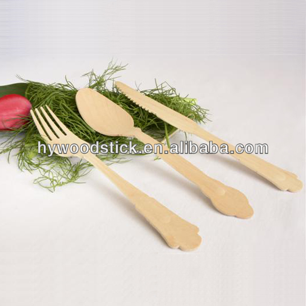 Disposable Birch Wood Cutlery Pack
