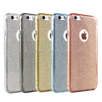 New Product Glitter Back Case Cover For iPhone 6S, mobile case for iphone6, Full Body TPU case for iphone 6