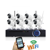 China OEM Factory Produce Security Camera system,The DVR Kit With 8 pcs Wireless IP Cameras,Plug and play