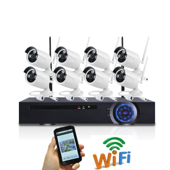 China OEM Factory Produce wireless Camera system,The wireless nvr kit With 8 pcs wifi ip camera,Plug and play