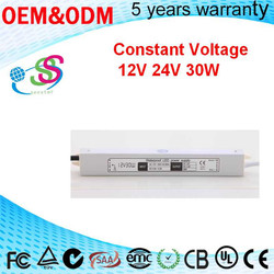Mini 24V 30W Power Supplier of Constant Voltage 1.25A Current Aluminium Case Waterproof IP67 30W 24V LED Driver