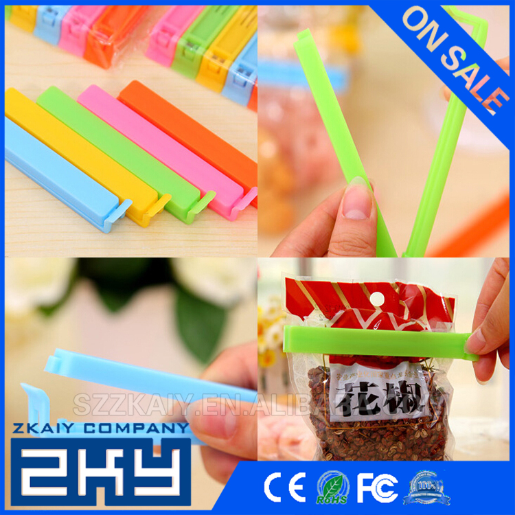 Plastic Food Bag Clips Colorful Food Fresh Accessories Home Use Storage Bag Sealing Clips