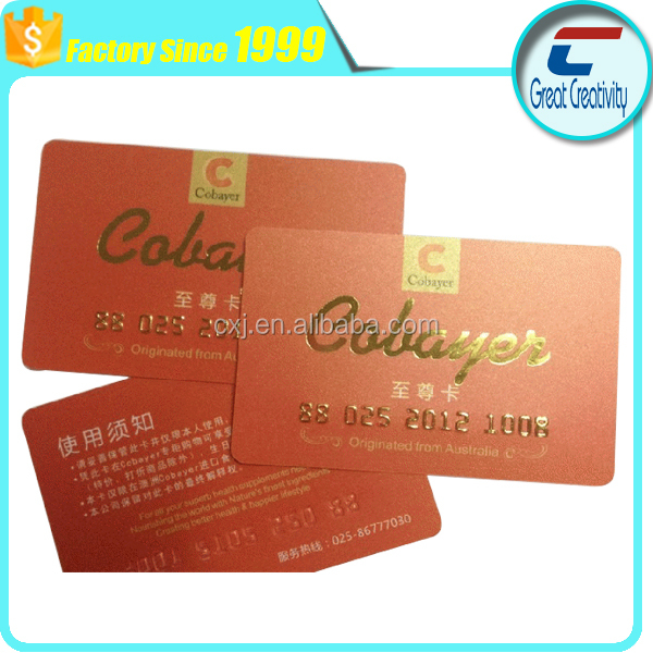 embossing hot stamping machine hologram pvc business card