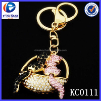 3DTop selling customized live animal metal nice snake animal keychain