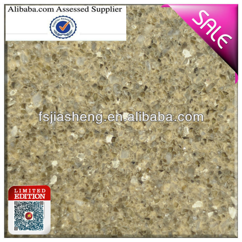 artificial multi color double color quartz stone countertops surface price