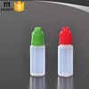 10ml 15ml 20ml colored cap plastic dropper bottle