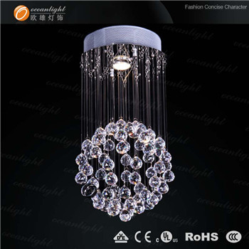 spherical silver crystal charming light ,crystal solar lights,pop lighting om6825