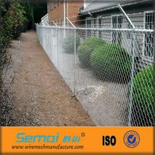 PVC/PE/Powder coated stainless steel chain link fence