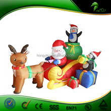 OEM&ODM China Factory Christmas Inflatable Products, Christmas Inflatable Santa Claus Cartoon with Deer Car