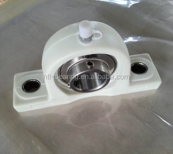 stainless steel pillow block bearing with thermal plastic housing SUCFL205