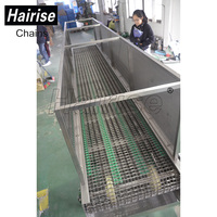 Hairise ss steel belt industrial slat band conveyor systems