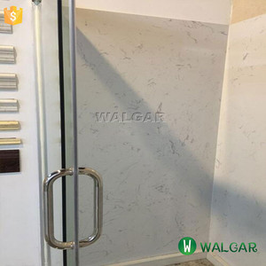 Calacatta White Tub Surround, Artificial Stone Shower Wall Panel