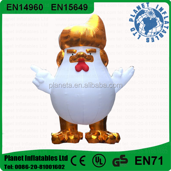 Hot Sale Giant Inflatable Trump Rooster For Advertising