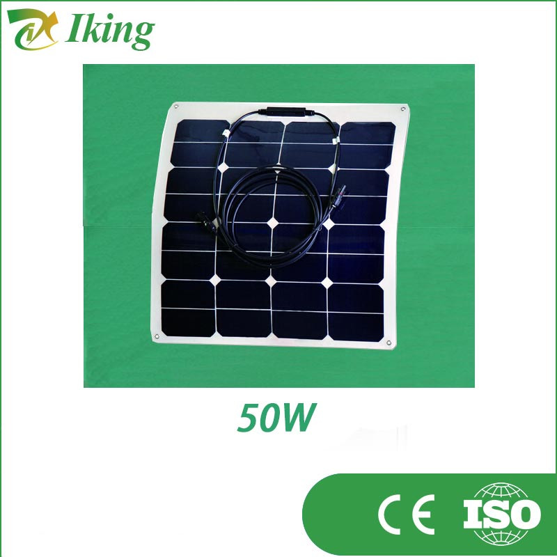 high efficiency 50w 18v sunpower flexible solar panel