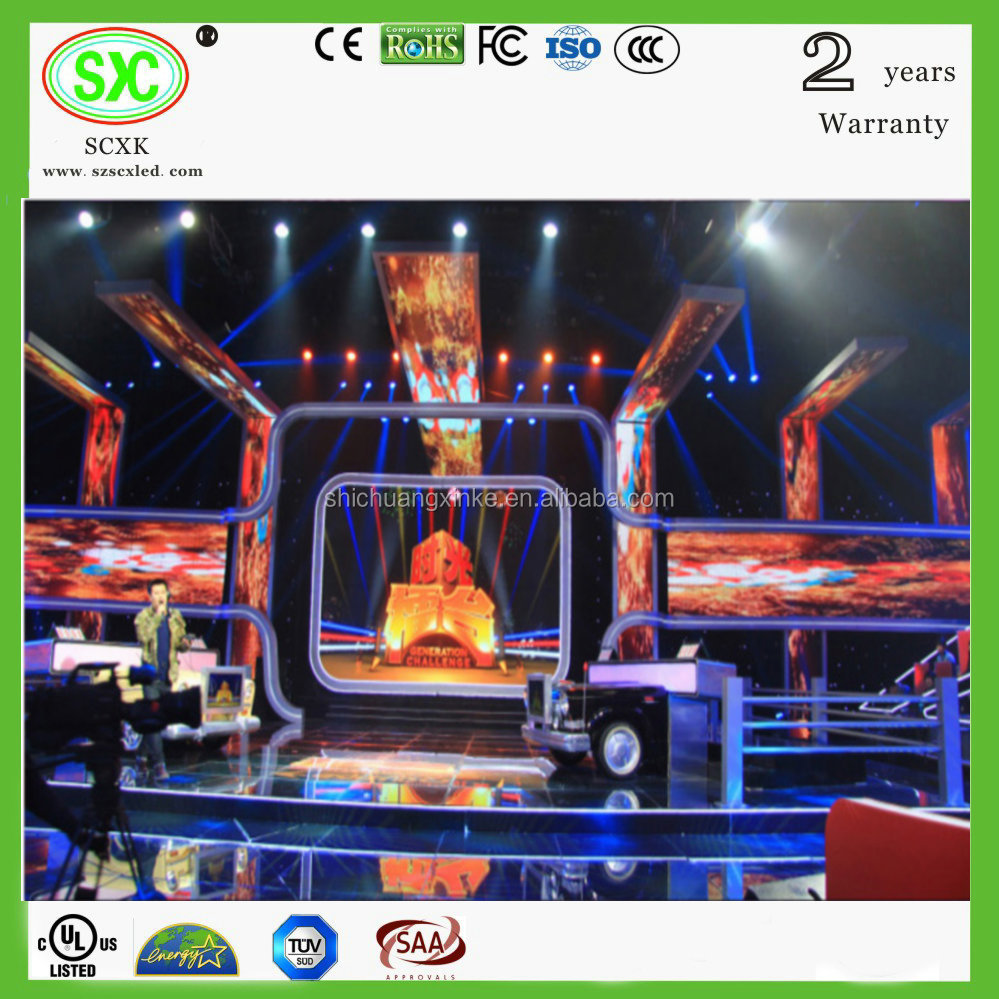 2017 high quality p16 led screen display/xxxx videos/gym display screen