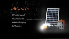 5w small portable solar kit for home use with speaker and radio
