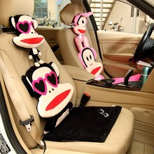 Good quality custom animal car seat cushion plush cushion for car back cushion