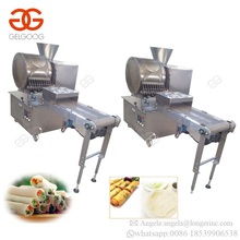 Industrial Spring Roll Sheet Product Line Small Egg Spring Roll Making Machinery Thin Pancake Roll Machine