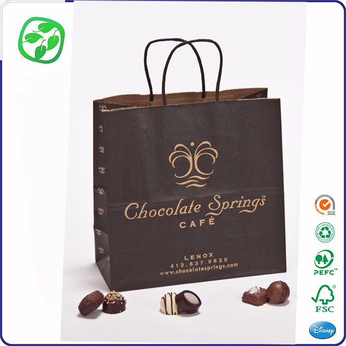 Wholesale Eco-friendly Recyclable Food Printed Plain Brown Kraft Paper Bags