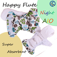 2016 baby love cloth diaper super absortion night aio waterproof PUL baby cloth nappy